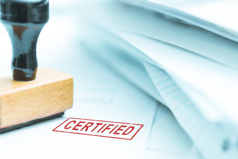 Prüfzeugnisse und Zertifikate