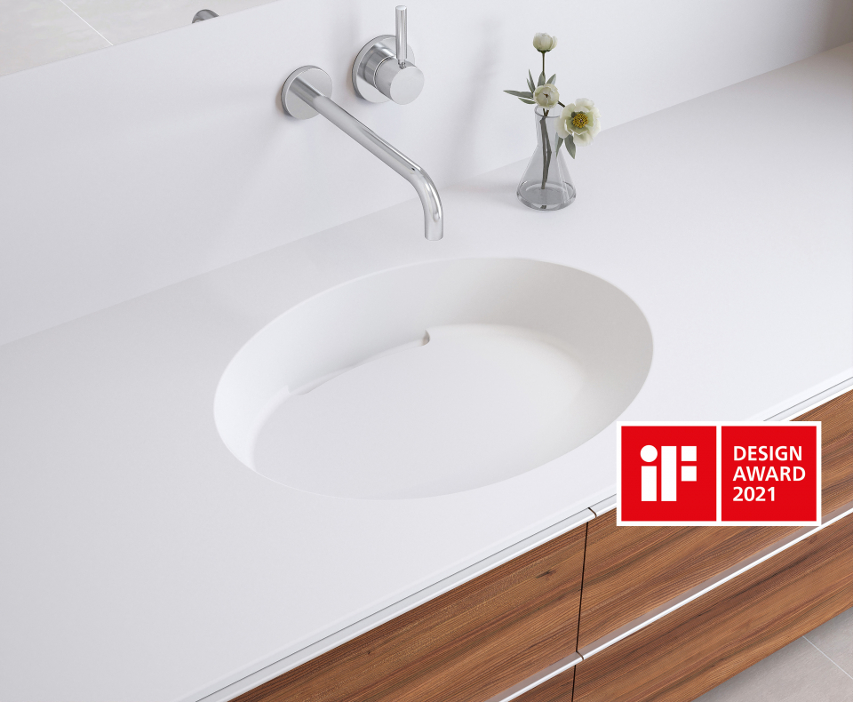 OVAL BASINS WITH SLOTTED DRAIN